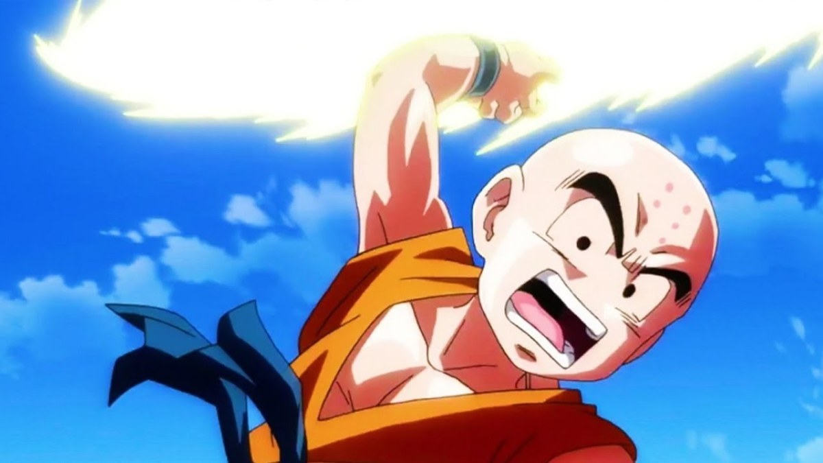Krillin, who has become the poster child of repeated deaths in the Dragon Ball series.