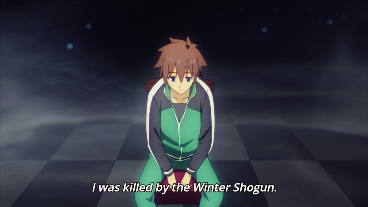 Kazuma, in the afterlife.
