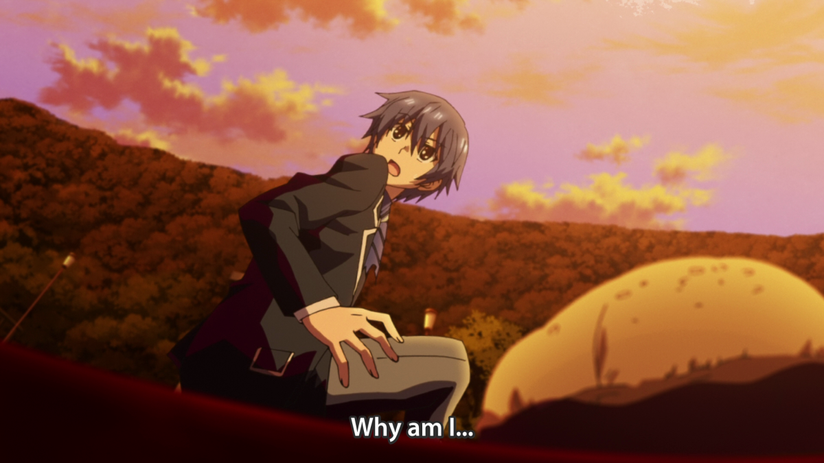 Shido, the moment he realizes he isn't dead anymore.