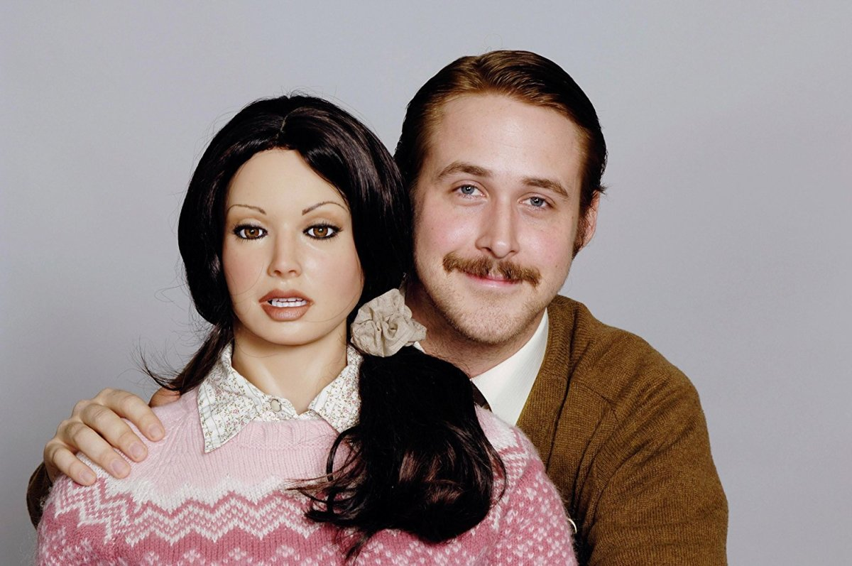 "Bianca and Lars Lindstrom (Ryan Gosling) in, ""Lars and the Real Girl."""
