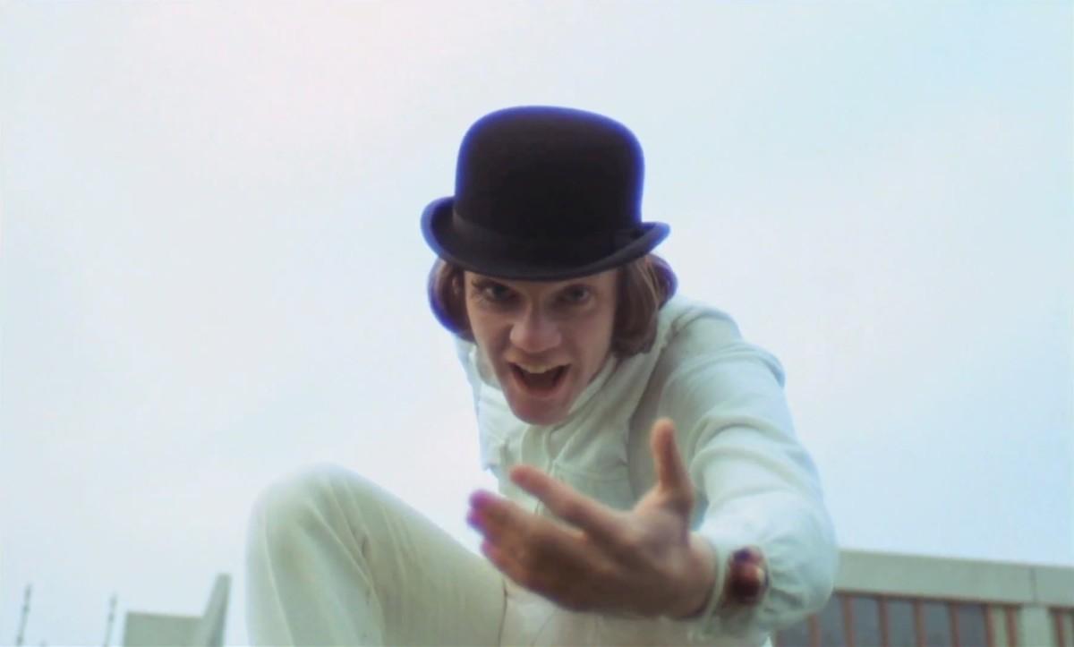 "Malcolm McDowell as Alex DeLarge in, ""A Clockwork Orange."""
