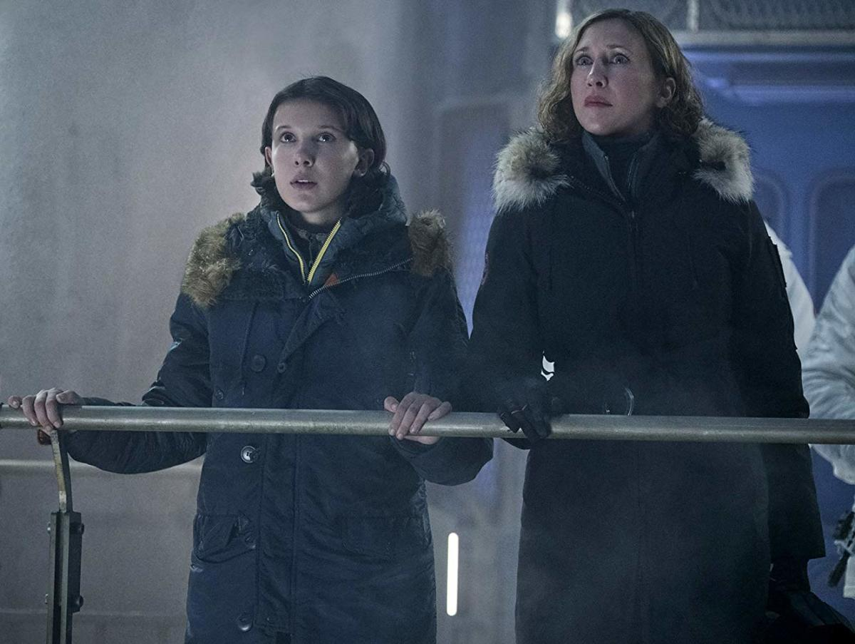 Millie Bobby Brown (left) and Very Farmiga (right).