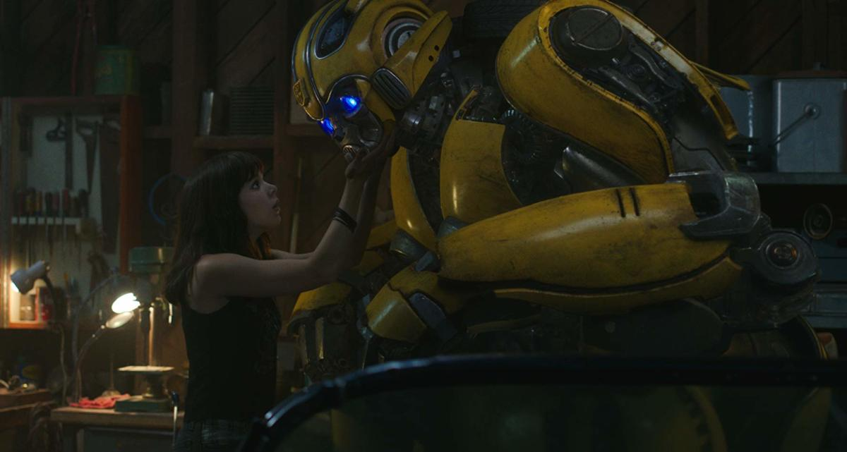 Hailee Steinfeld as Charlie and Bee Bumble as Bumblebee.