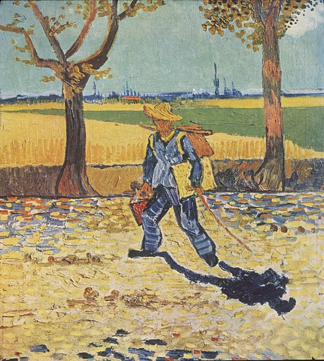 """The Painter On His Way to Work."" 1888. Formerly in the Kaiser-Friedrich-Museum, Magdeburg (lost by fire in 1945)"