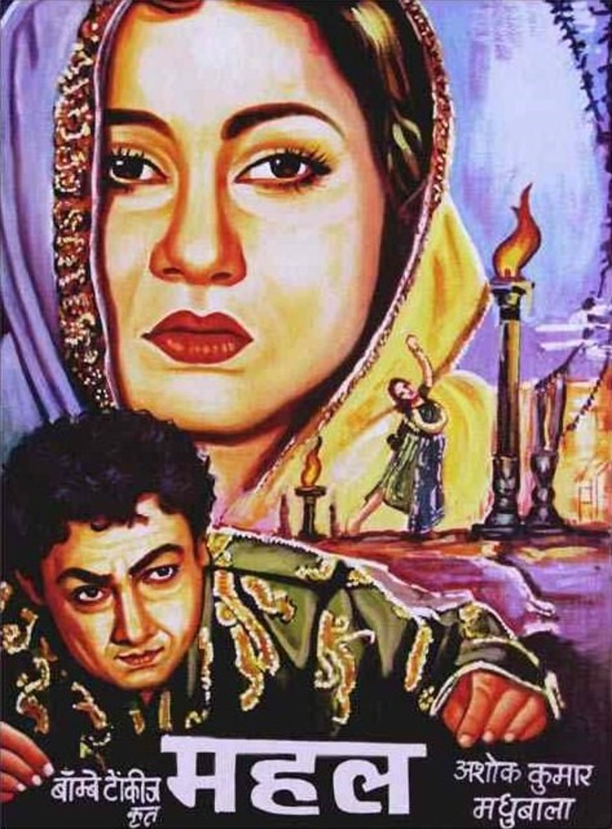 Poster of Mahal movie which was released in 1949