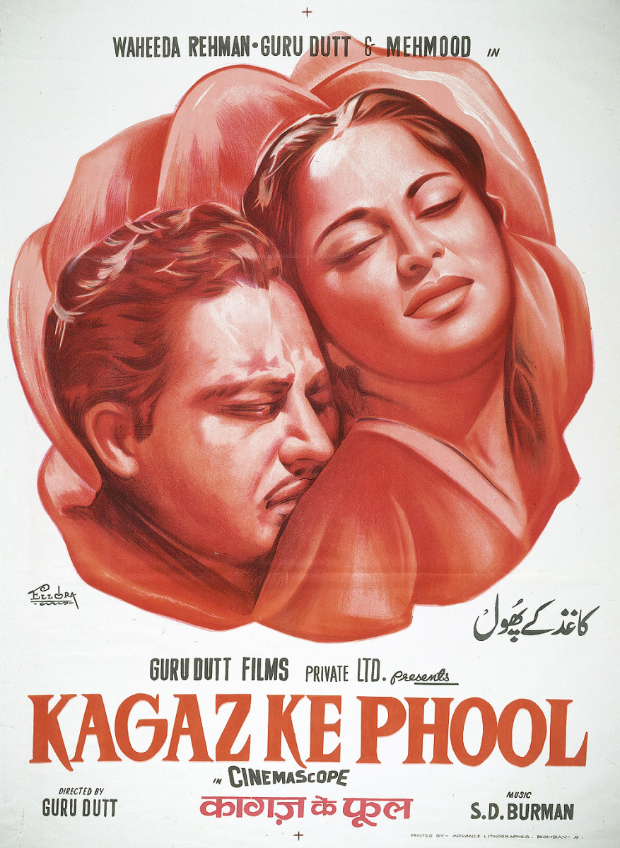Hand painted poster of Kagaz Ke Phool.