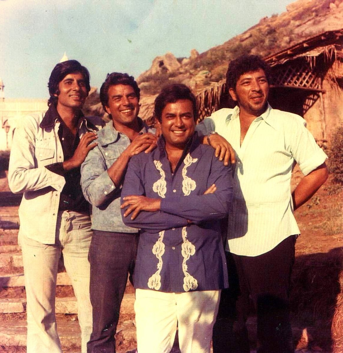 A rare photo of the cast of Sholay.