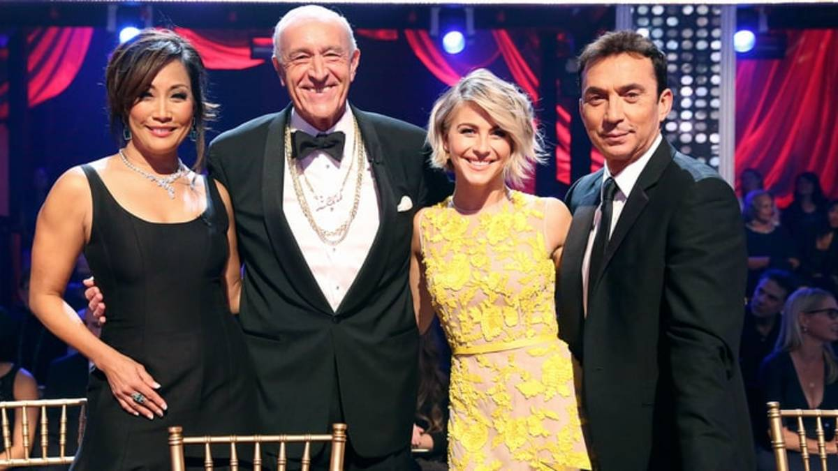 "Judges on ""Dancing With the Stars"": Carrie Ann Inaba, Len Goodman, Julianne Hough, and Bruno Tonioli"