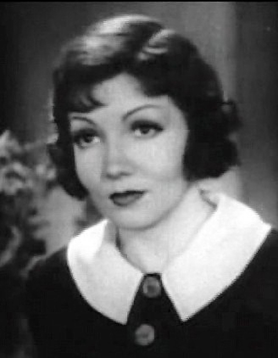 "Claudette Colbert in ""I Cover the Waterfront,"" 1933."