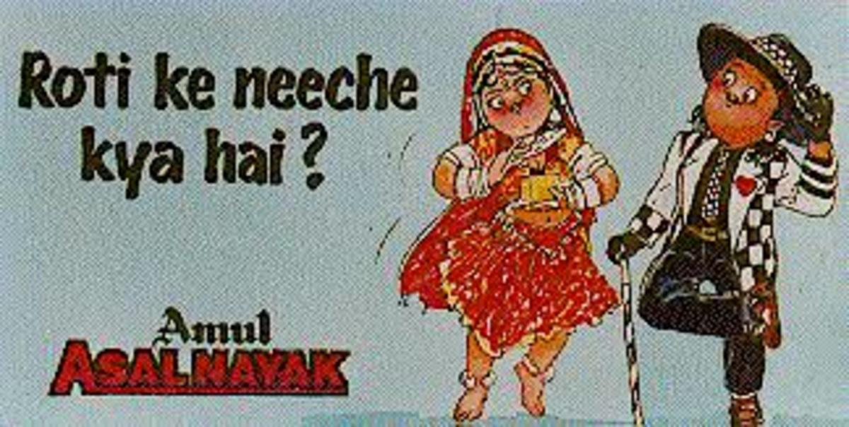 Cartoon made by Amul on Khalnayak becoming a superhit