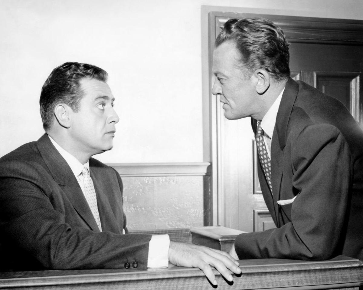 William Talman (right) with Raymond Burr