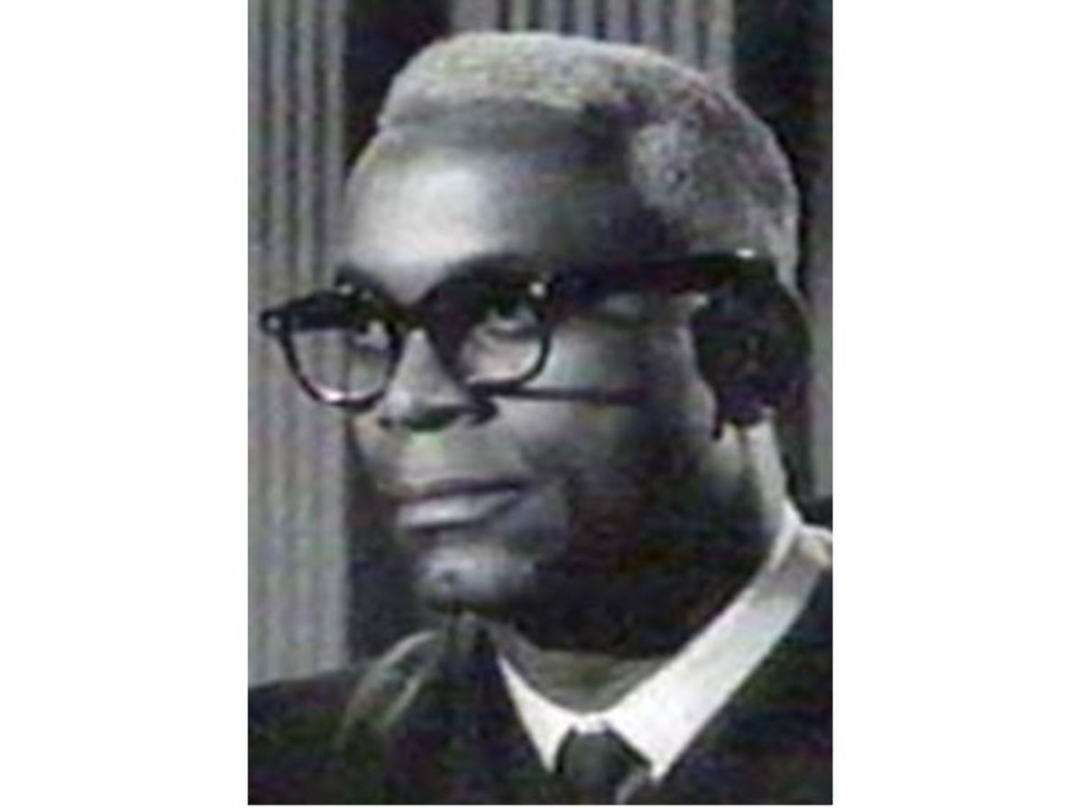 "Vince Townsend Jr. as the silent judge in ""The Case of the Skeleton's Closet"""