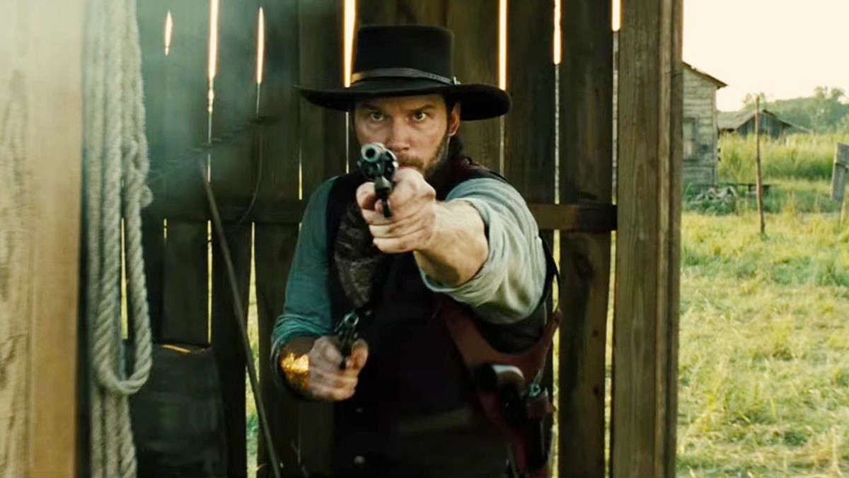 Pratt guns for a victory by not flopping as much. In The Magnificent Seven, his character is the counterpart of Steve McQueen's in the original 1960 movie.