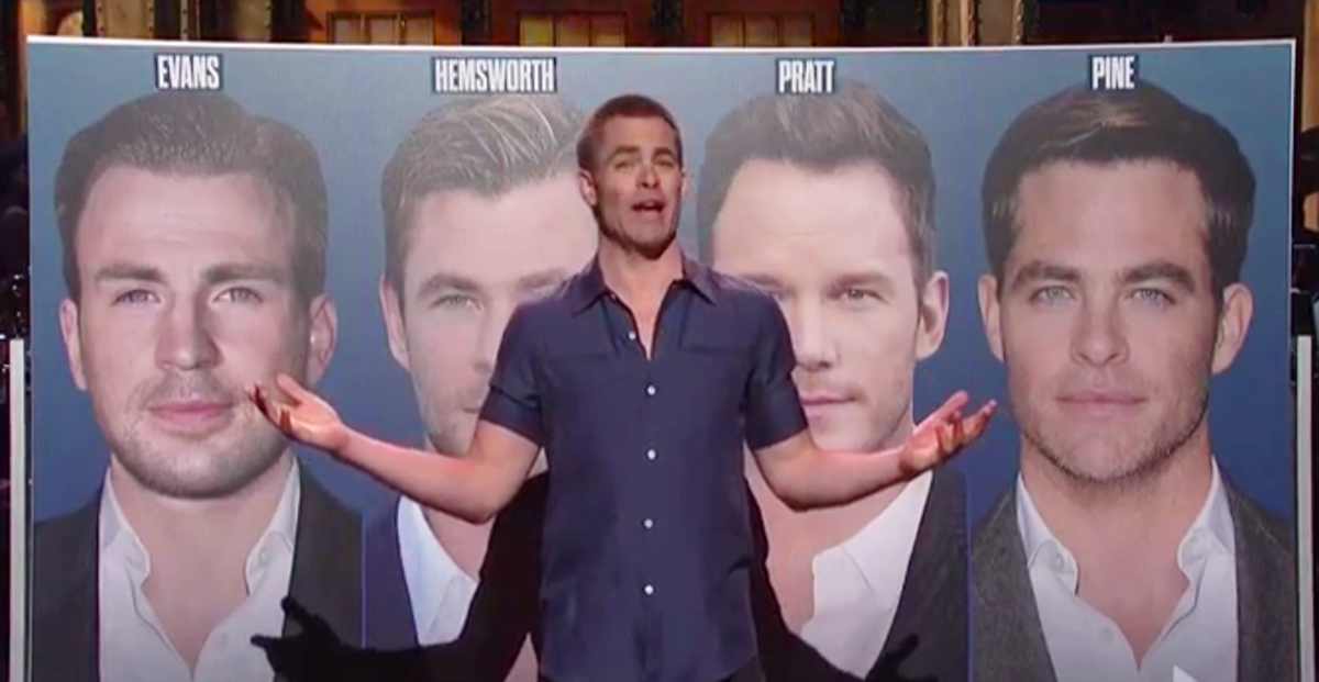 """I'm Chris Pine."" Chris Pine hosts SNL."