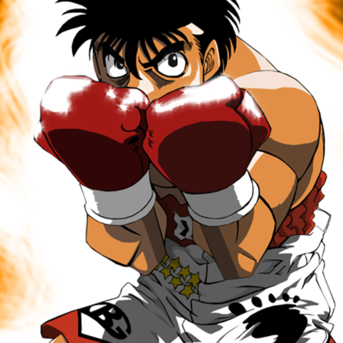 Ippo Magunochi in a defensive pose.