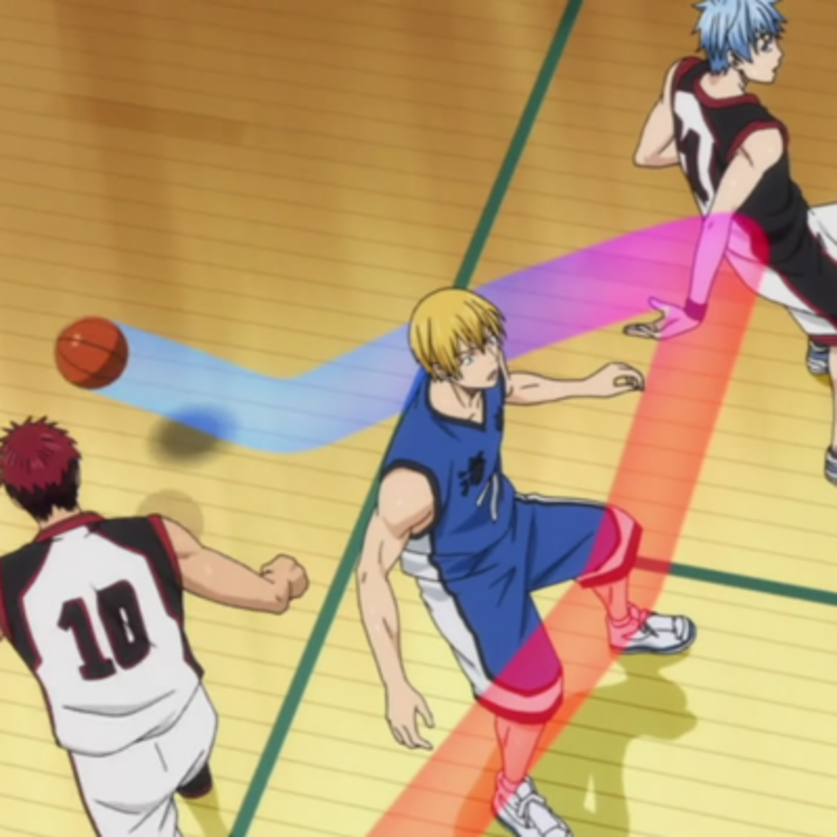 Kuroko and Kagami's united attack.
