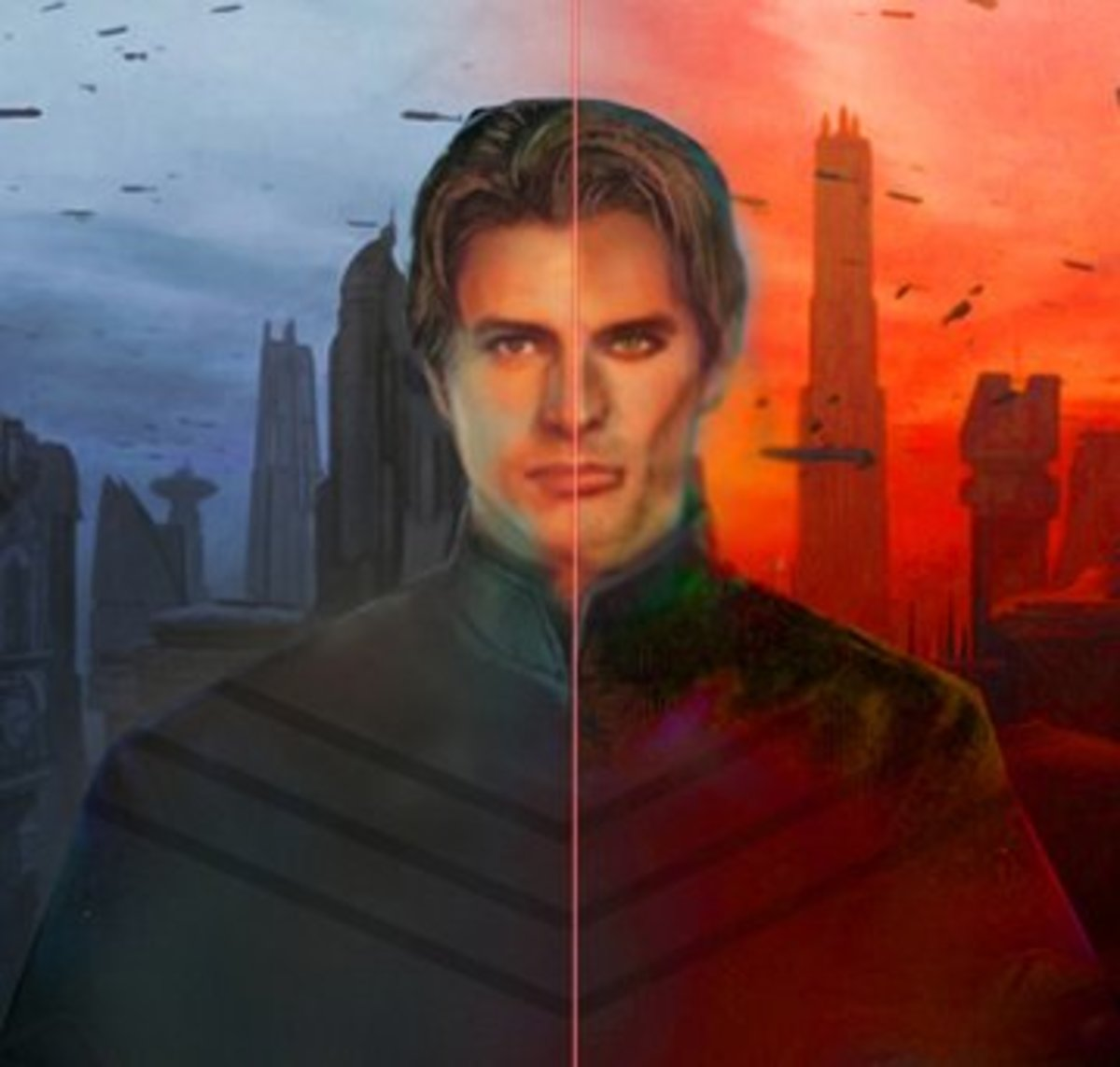 Jacen Solo (left) and Darth Caedus