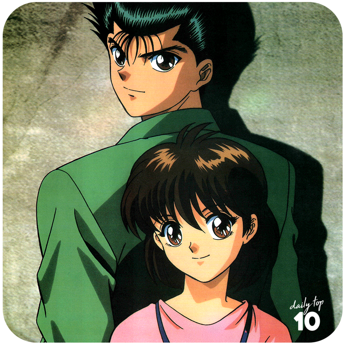 Yusuke and Keiko back to back