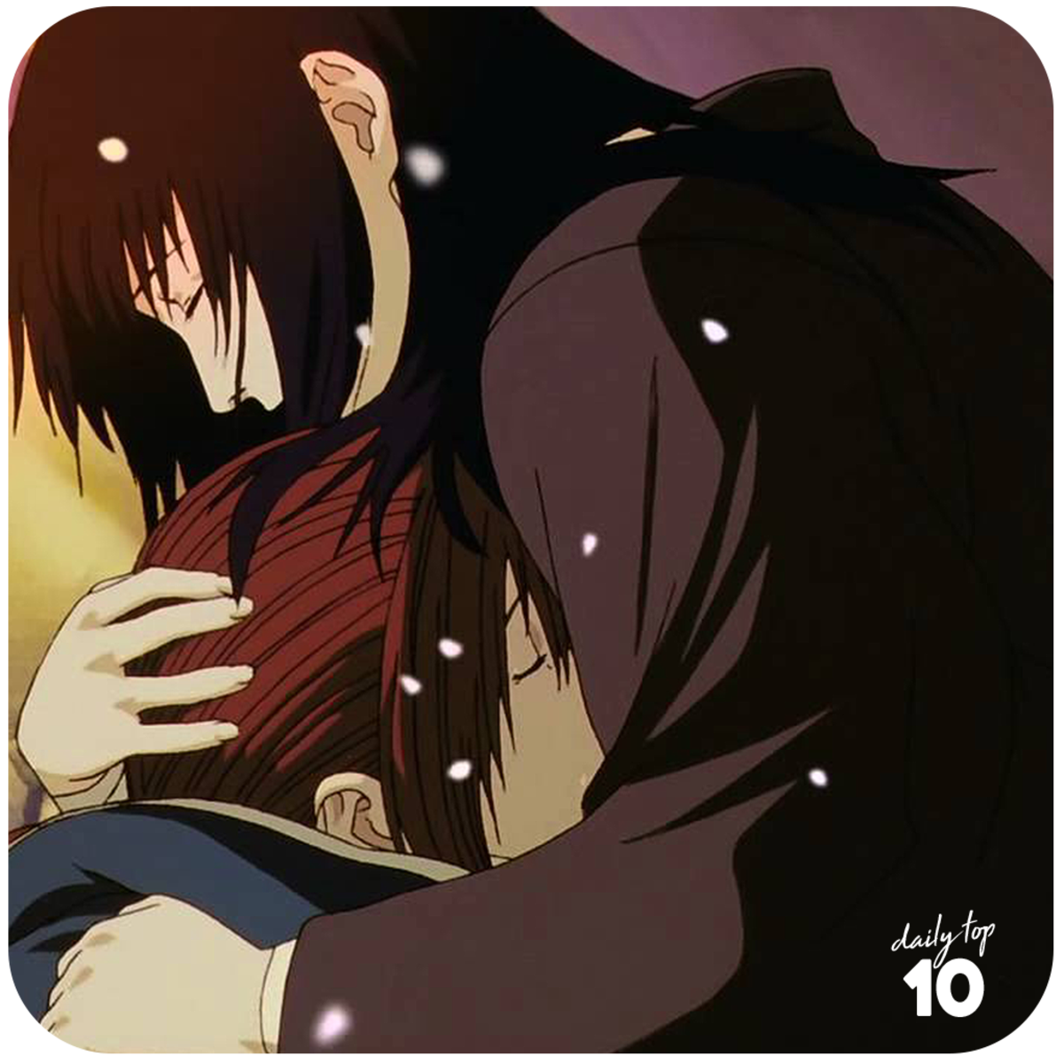 Kenshin dies on Kaoru's arms