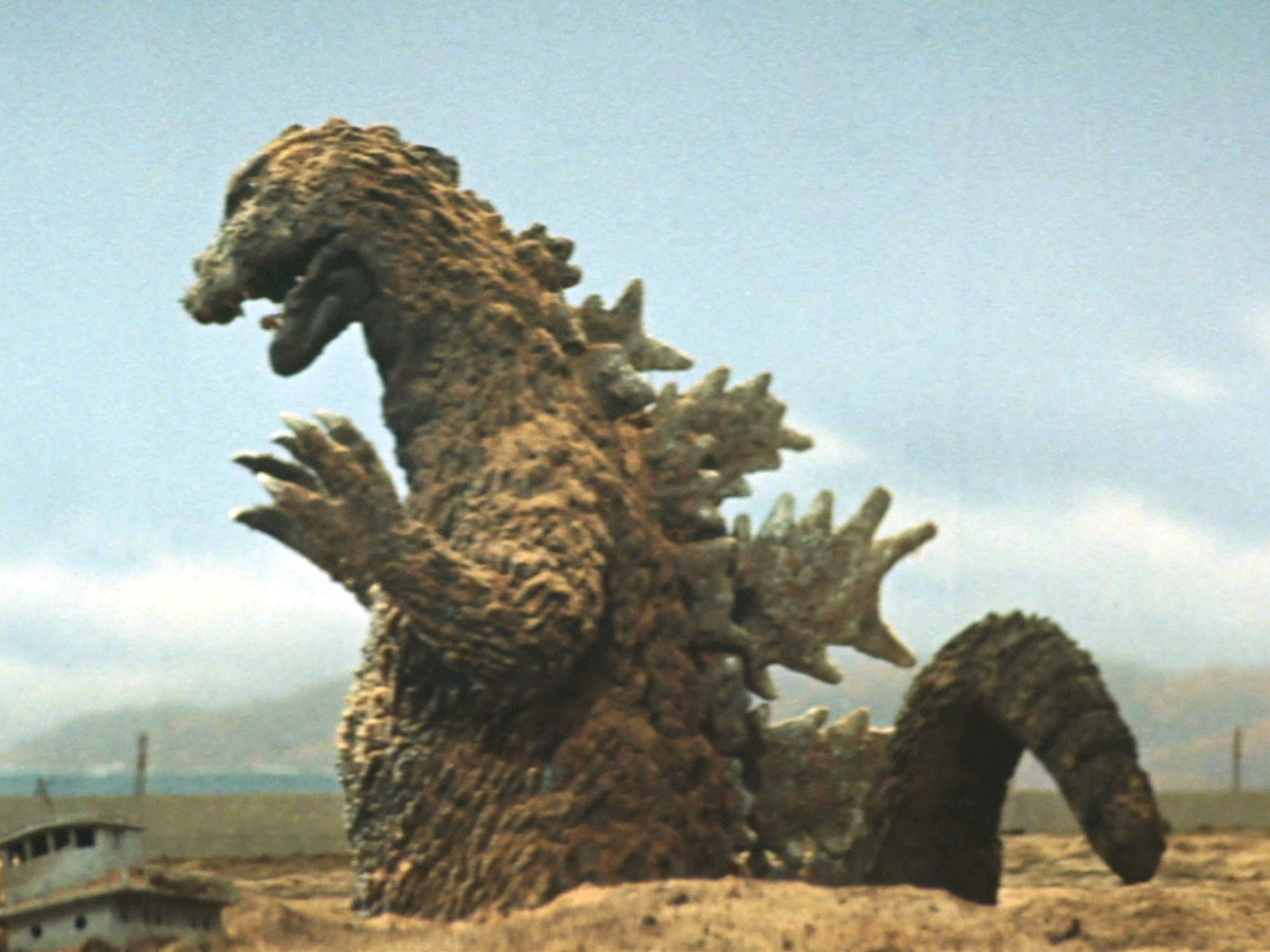 One of Godzilla's brown suits