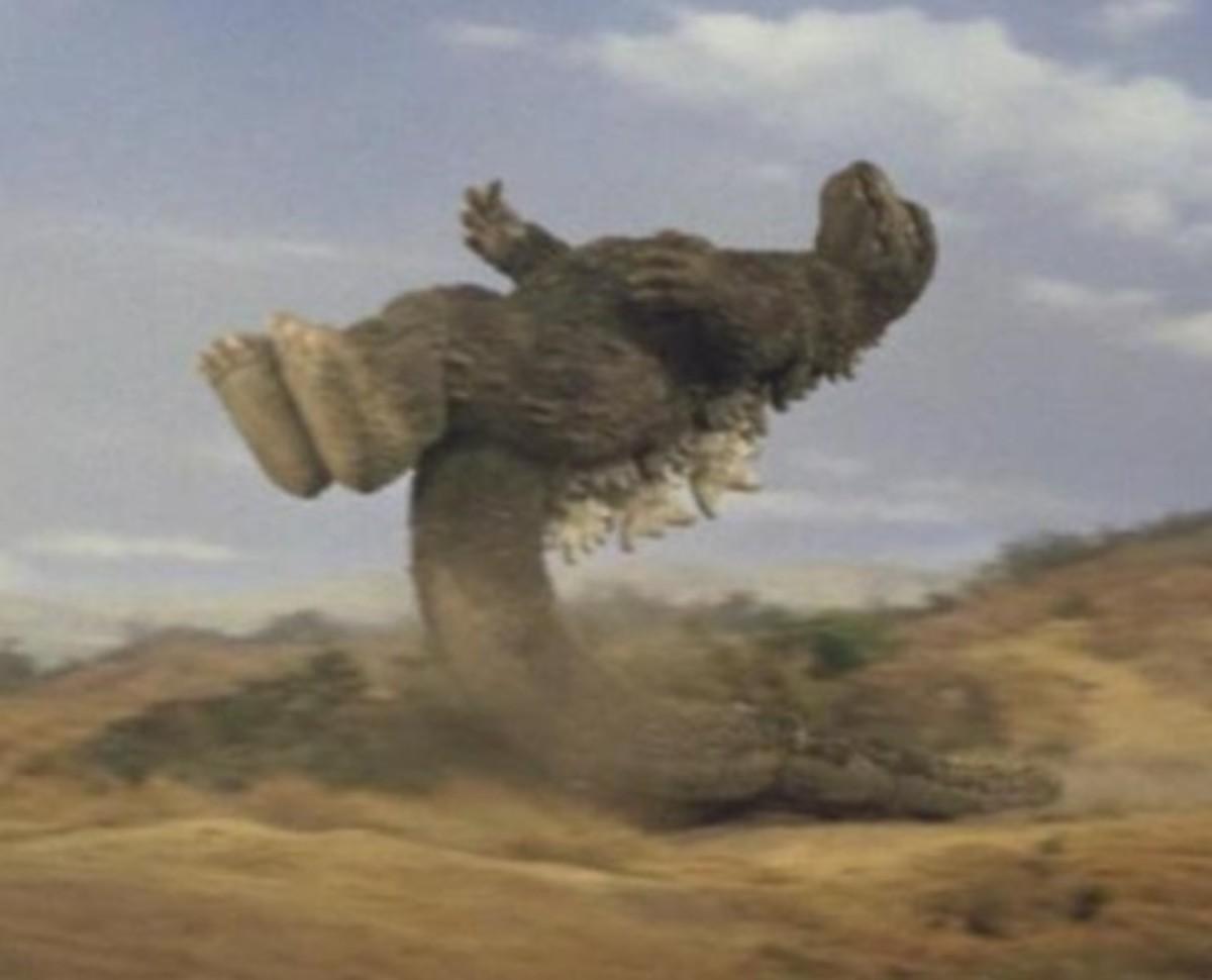 Godzilla's tail-slide kick