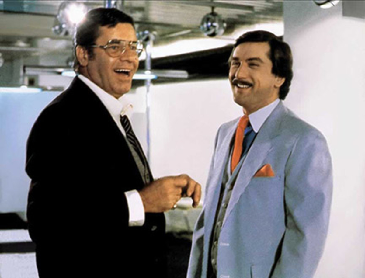 Although Jerry Lewis was not in the tier of great actors, his pairing with Robert DeNiro in The King of Comedy (1982) is a classic.