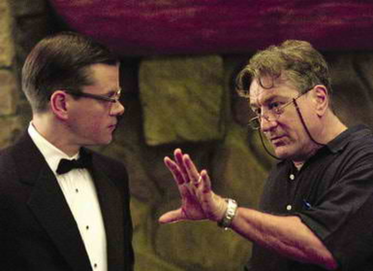 DeNiro directing Matt Damon in The Good Shepherd (2006).