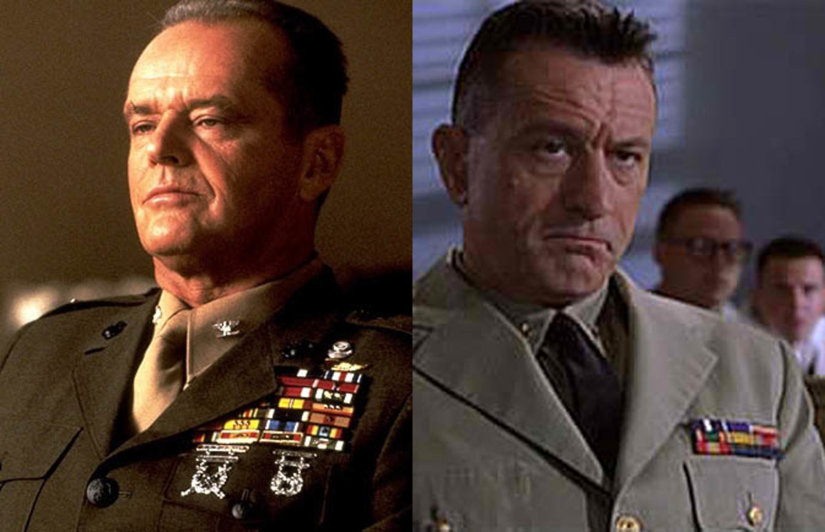 Even in the movies, Nicholson outmedals DeNiro.