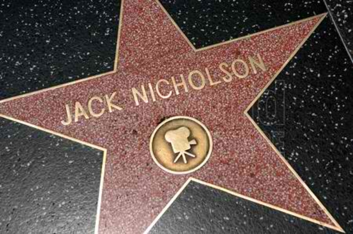 Jack Nicholson's Star on Hollywood's Walk of Fame on Hollywood Boulevard