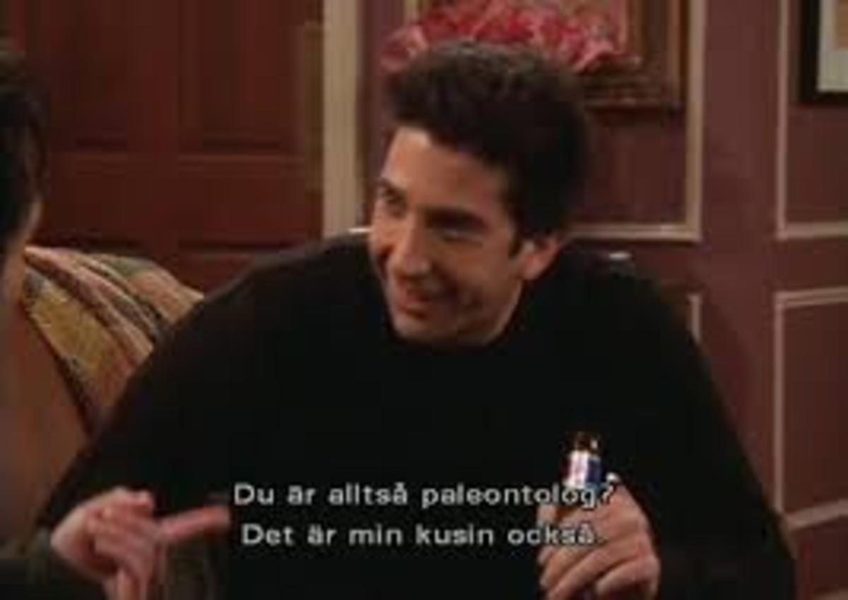 """Ross Geller. You don't even need """"paleontolog"""" to know he's talking about dinosaurs."""