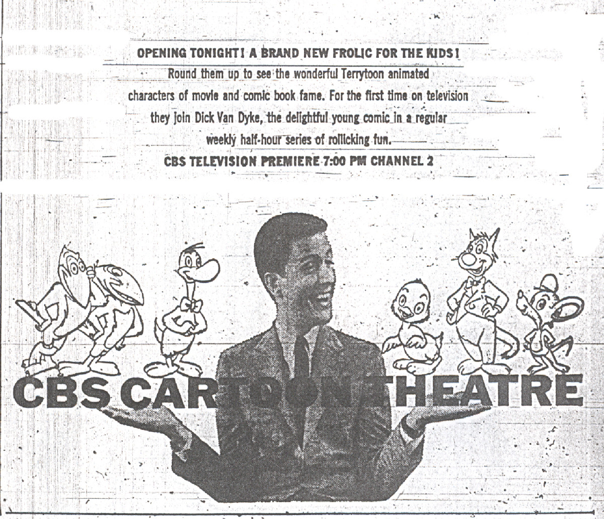 CBS Cartoon Theare (1956), an early attempt at animation in primetime