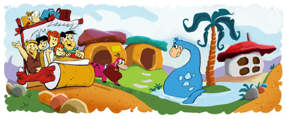 In 2010 for its 50th anniversary, the Flintstones were featured for a day as a Google Doodle.