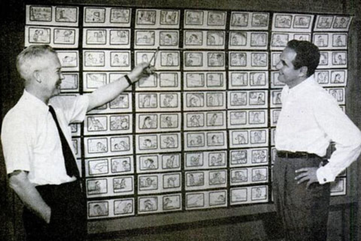Bill Hanna (left) and Joe Barbera (right) in 1960