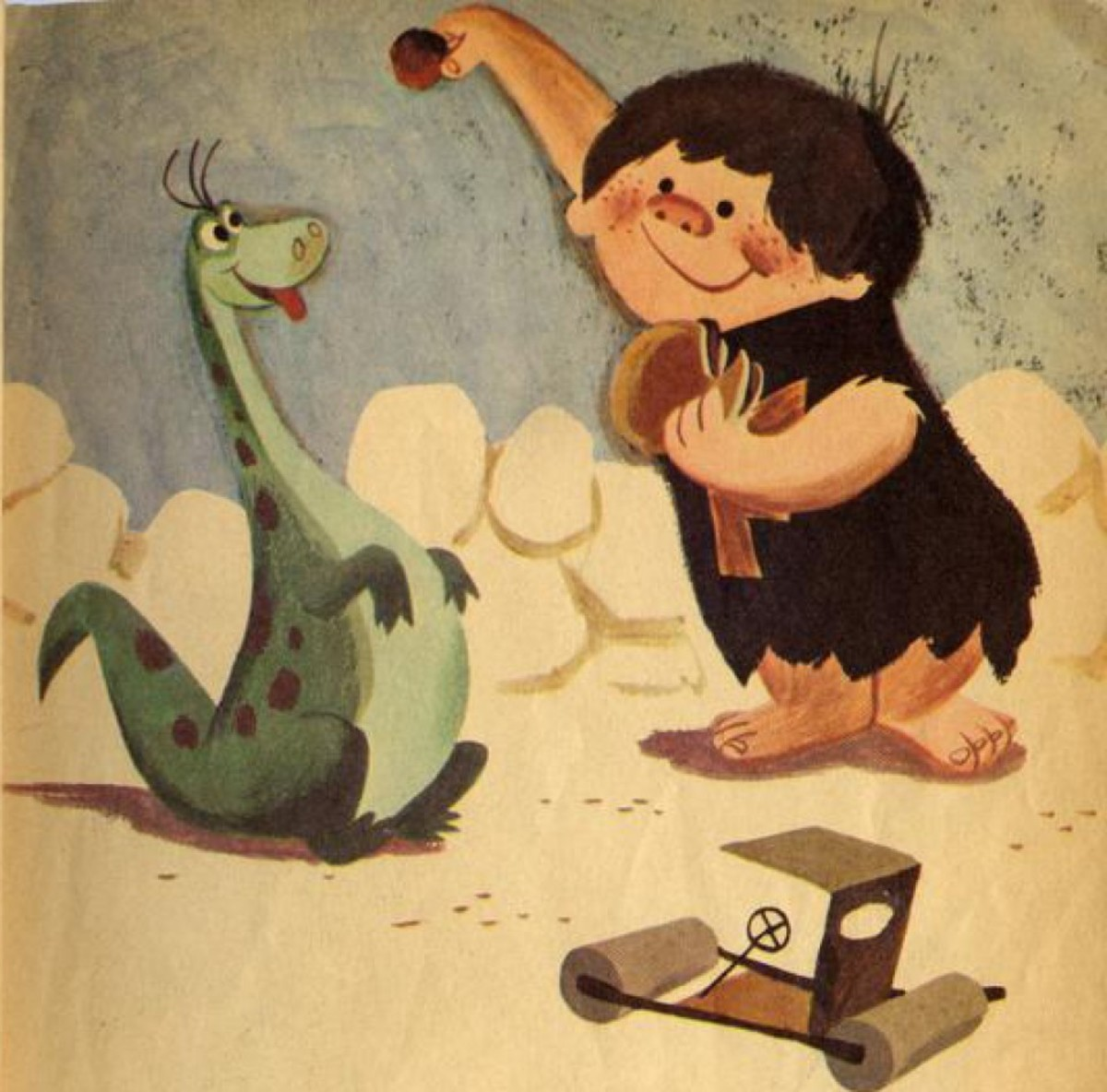 The early concept of a child Flintstone, Fred Jr., who only appeared in a Little Golden Book released during the first season.