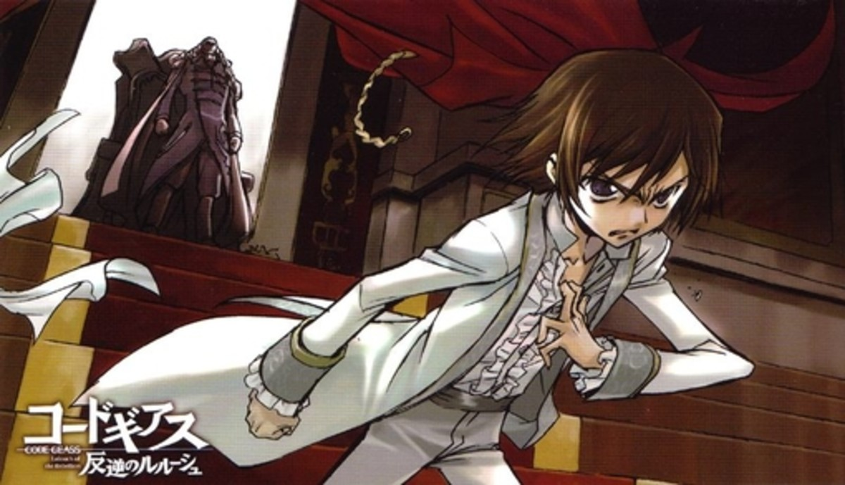 Young Lelouch renouncing his princely status in his father's presence