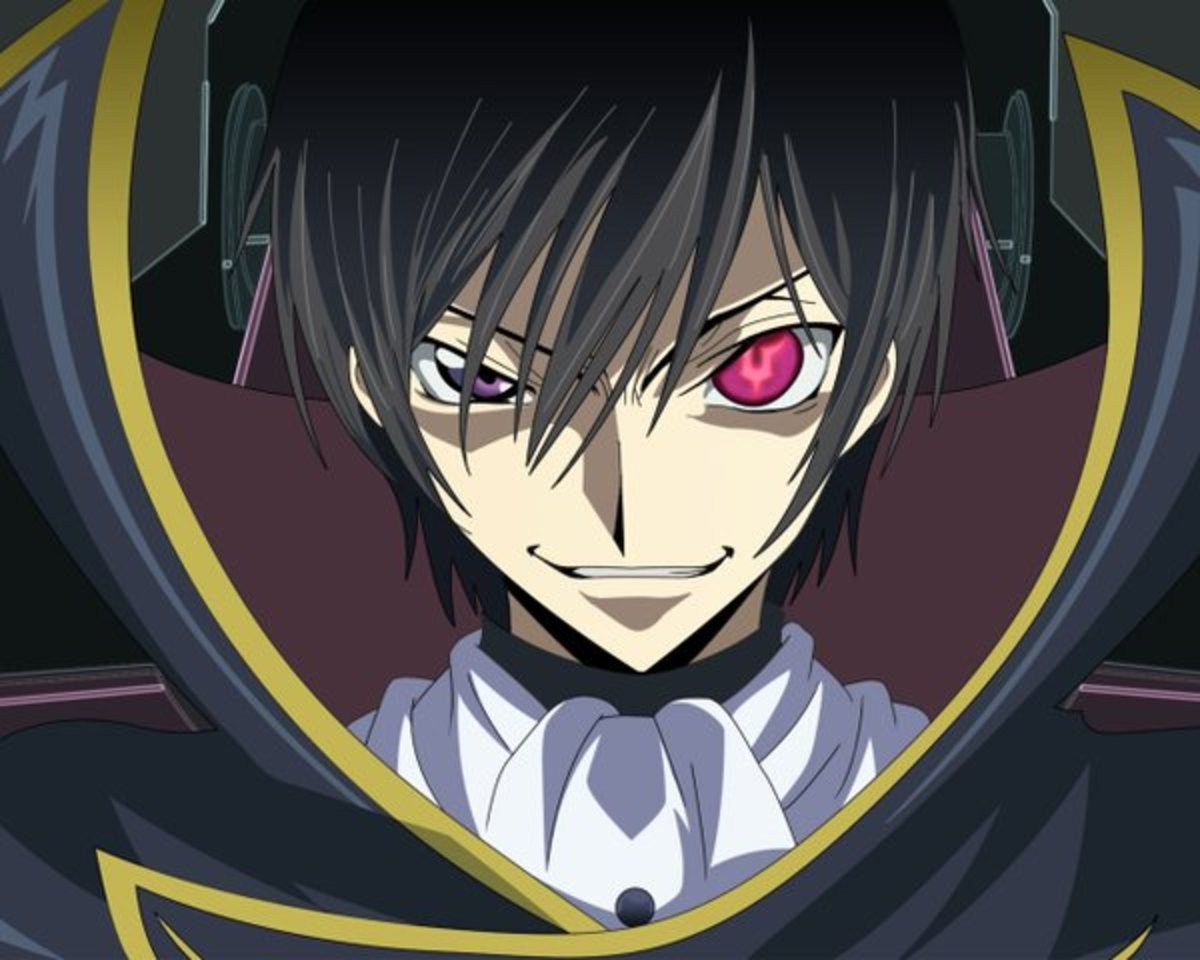 "Lelouch with the ""Power of Kings"" i.e. Geass, in his left eye"