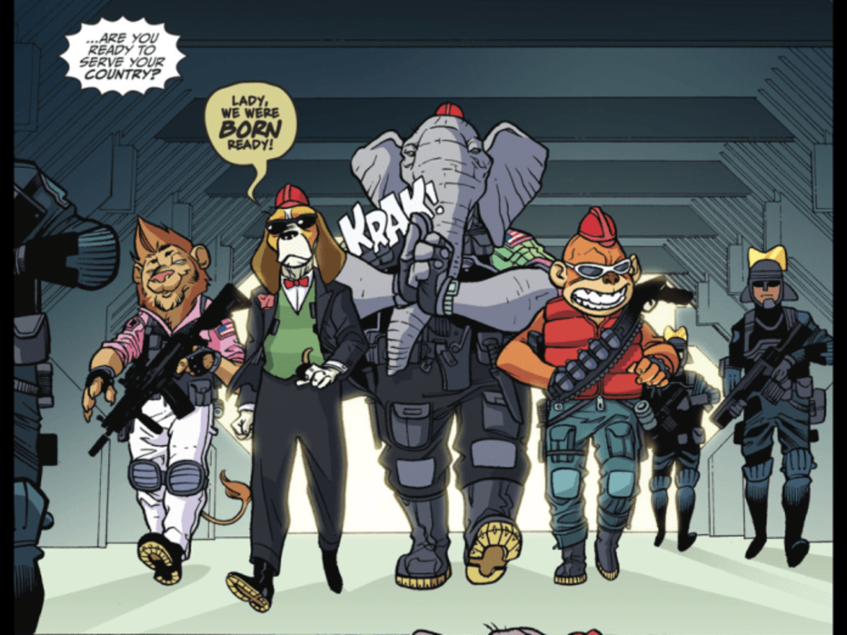 In an unlikely team-up, the Banana Splits crossed over with DC's Suicide Squad in 2017.