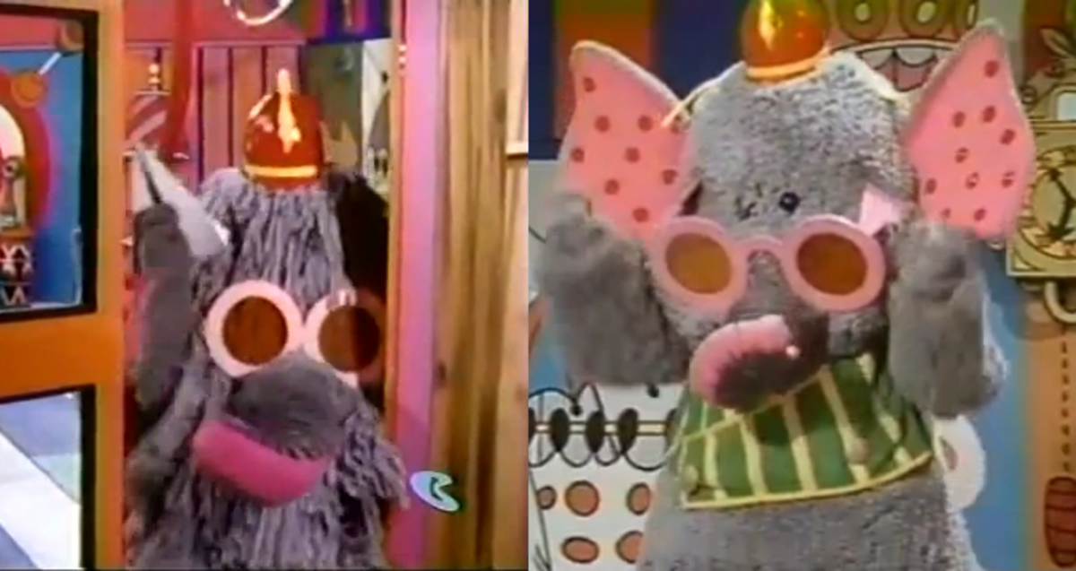 Snorky changed appearance between season 1 (left) and season 2 (right).