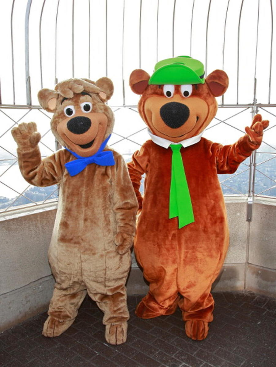 It was the use of a person in a Yogi Bear costume that sold executives on the Banana Splits idea. (Pictured are costumes from ~2010, not vintage 1960s costumes.)