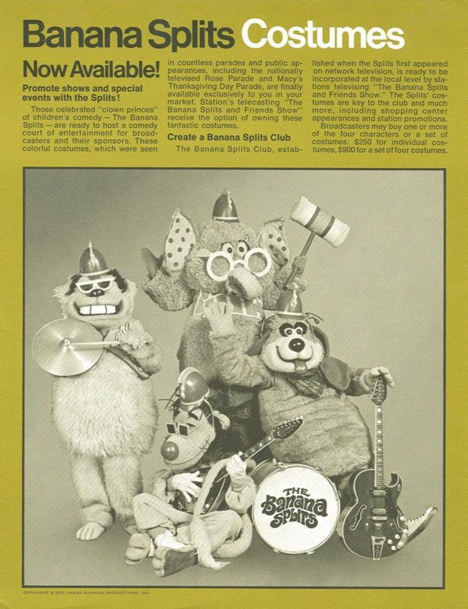 The costumes were designed by Sid and Marty Krofft, some of their first television work.
