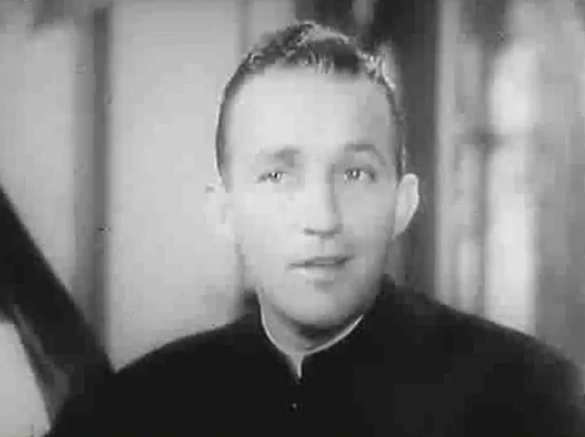 Bing Crosby as Father Chuck O'Malley in the 1945 Film The Bells of St. Mary's