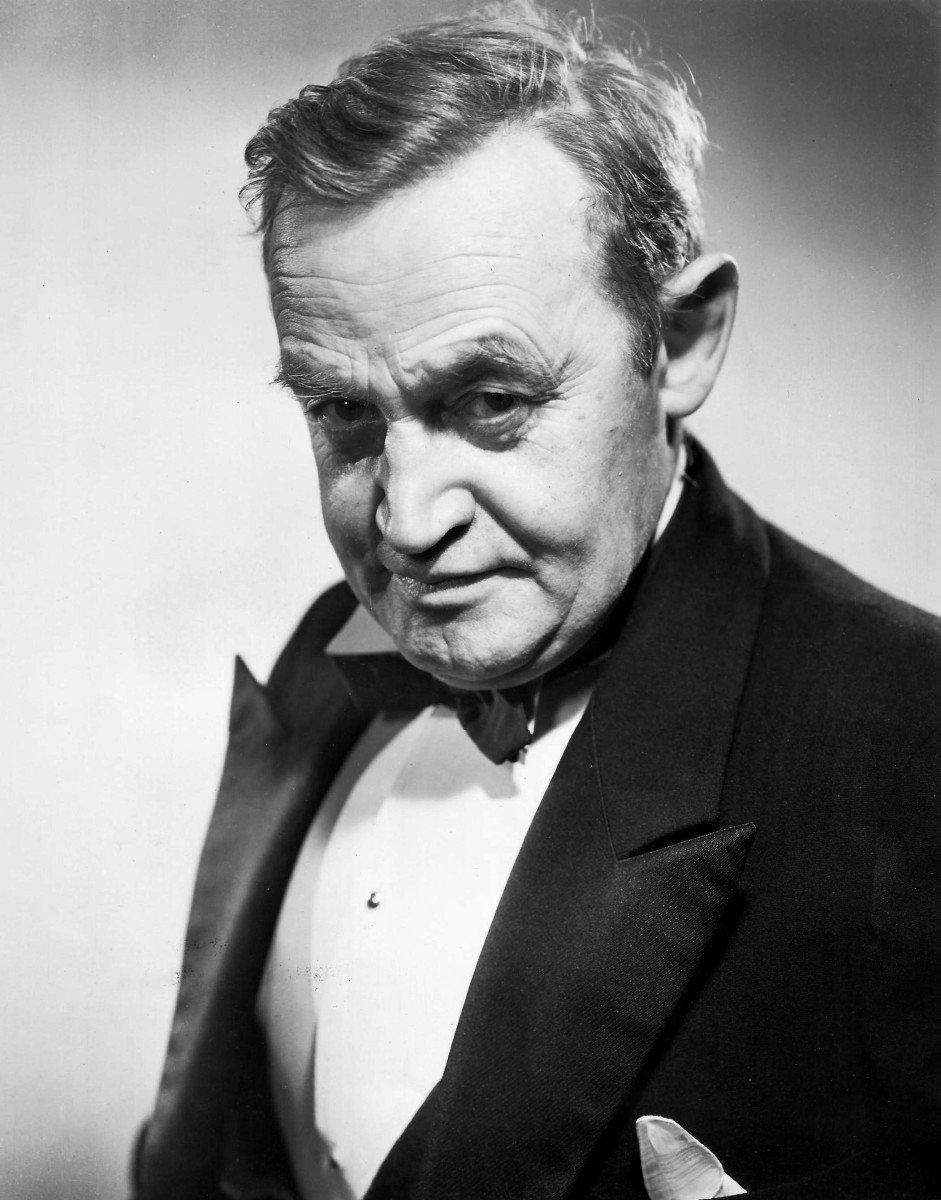 Barry Fitzgerald in a publicity still for the 1945 movie And Then There Were None