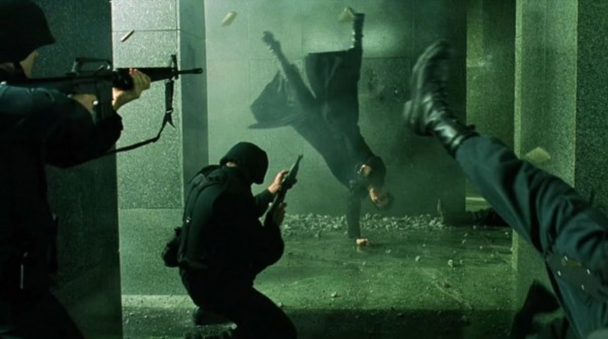 Among many highlights in the film is the frankly brilliant lobby shoot-out...
