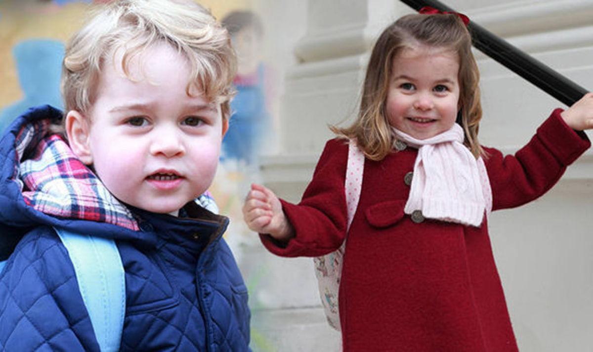 Prince George, 5. Princess Charlotte, 3.