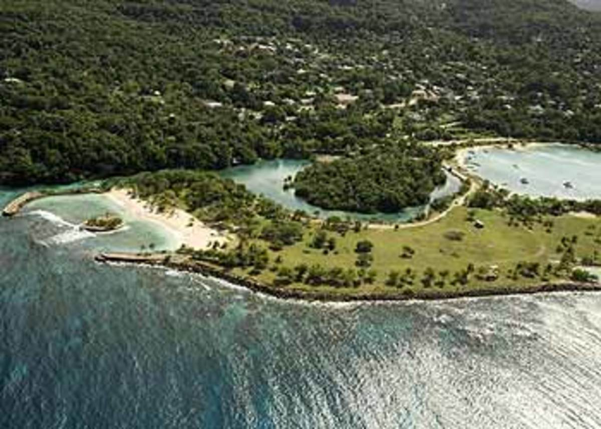 Aerial view of Goldeneye, Jamaica