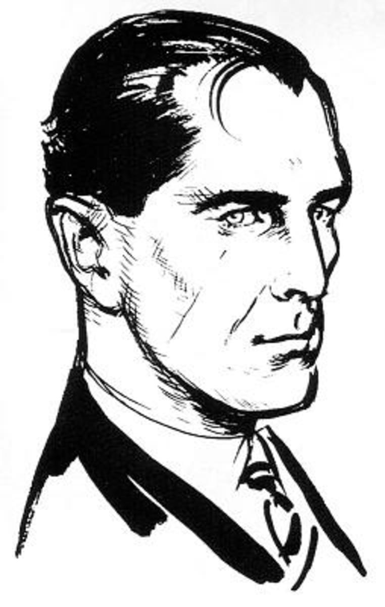 Ian Fleming' s impression of what Bond looked like : sketched by his own hand