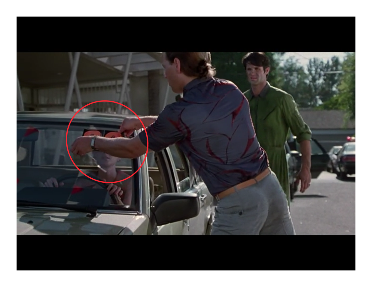 Van Sant fixes the error by including the salesman pulling off the year just before Heche leaves.