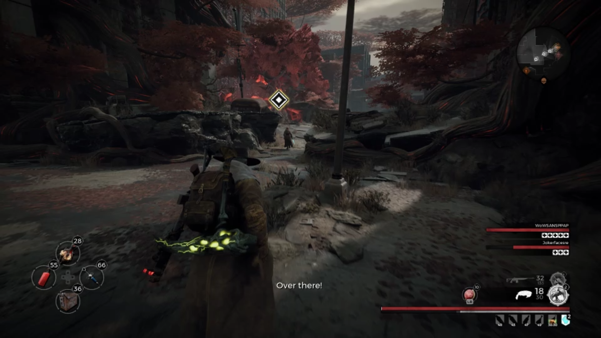 Coming upon the middle map checkpoint with the Wailing Tree spawned.