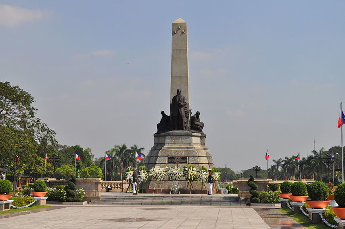 The Rizal monument at Rizal Park in Manila. This is the site where he was executed.
