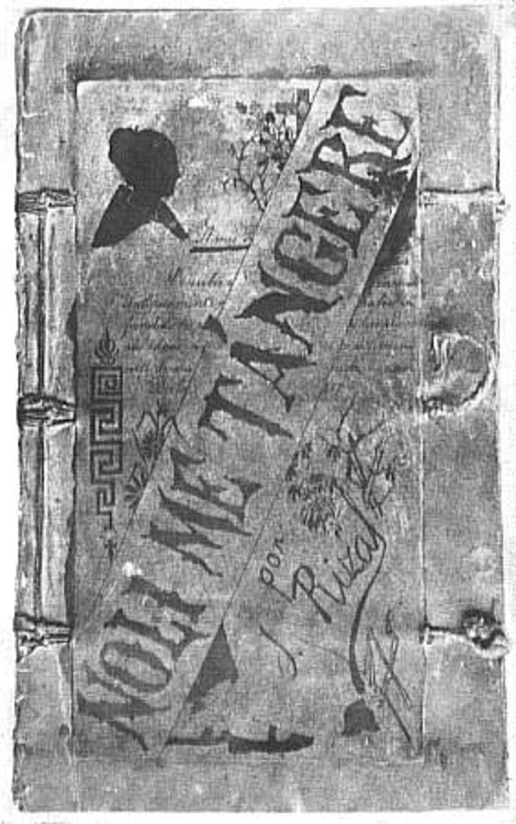 "The original cover of ""Noli Me Tangere"" (circa 1887)"
